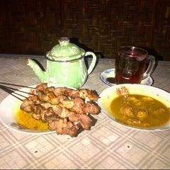 Photo taken at Sate Klathak Pak Pong Asli by enggar r. on 10/7/2012