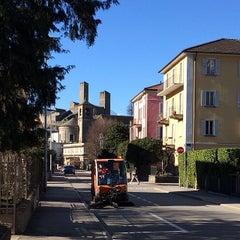 Photo taken at Stazione di Bellinzona by Evgeniya K. on 3/8/2014