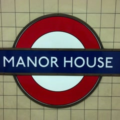 Photo taken at Manor House London Underground Station by Alexandre L. on 1/17/2014