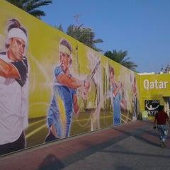 Photo taken at Khalifa International Tennis & Squash Complex by Khaled H. on 1/1/2013