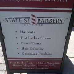 Photo taken at Tweed Barbers of Boston by DressCode B. on 4/3/2013