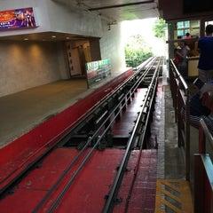Photo taken at Peak Tram Upper Terminus 山頂纜車凌霄閣總站 by Young C. on 5/15/2015