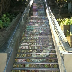 Photo taken at Hidden Garden Mosaic Steps by Mike R. on 11/12/2015