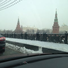 Photo taken at Большой Каменный мост / Bolshoy Kamenny Bridge by Alexa A. on 3/13/2013