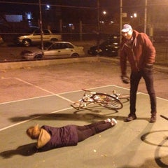 Photo taken at NYC Bike Polo - Baltic Court by Deco on 11/20/2013