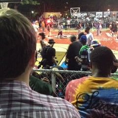 Photo taken at Rucker Park Basketball Courts by Kevin S. on 8/8/2014