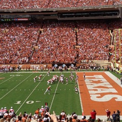 Photo taken at Darrell K. Royal-Texas Memorial Stadium by Andy Y. on 11/10/2012