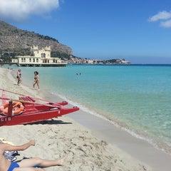 Photo taken at Spiaggia di Mondello by Ezio V. on 5/11/2013