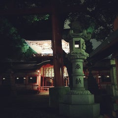 Photo taken at 春日神社 by Rie O. on 10/2/2014