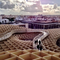 Photo taken at Metropol Parasol by Javier C. on 11/17/2012