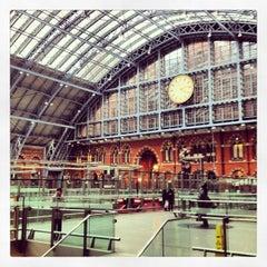 Photo taken at London St Pancras International Railway Station (STP) by Fabian L. on 3/23/2013