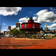 Photo taken at Seven Foot Knoll Lighthouse by Paige on 9/23/2012
