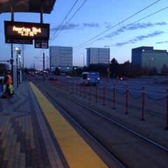 Photo taken at American Boulevard LRT Station by Ross H. on 10/12/2012