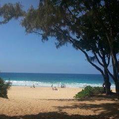 Photo taken at Ehukai Beach by k@t on 3/8/2013