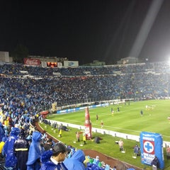 Photo taken at Estadio Azul by Manuel V. on 5/24/2013