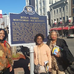 Photo taken at Rosa Parks Library and Museum by Raven D. on 3/7/2015