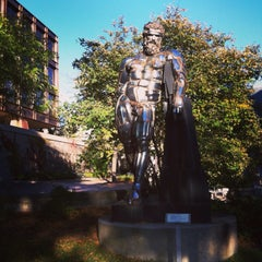 Photo taken at Naked Guy Statue by Patti C. on 10/12/2013