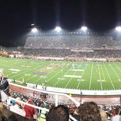 Photo taken at Stade Percival-Molson Memorial Stadium by Julien B. on 8/23/2013