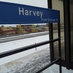 Photo taken at Metra - Harvey by Demita J. on 2/22/2013