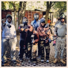 Photo taken at Cousins Paintball Staten Island by Social Butterfly Z on 10/13/2012