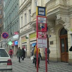 Photo taken at Karlovo náměstí (tram, bus) by Ondřej M. on 11/7/2012