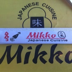 Photo taken at Mikko Japanese Cuisine by Wil Willie-Kai P. on 3/11/2014