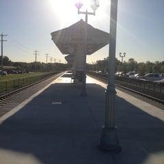 Photo taken at DCTA MedPark Station (A-train) by Pam V. on 10/19/2012