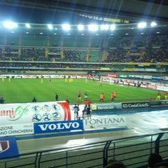 Photo taken at Stadio Marc'Antonio Bentegodi by Massimo R. on 9/27/2012