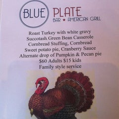 Photo taken at Blue Plate Bar & Grill by Tiffany E. on 11/22/2012