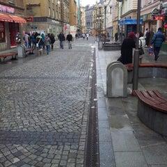 Photo taken at Ostrožná | Pěší zóna by Jan Š. on 1/10/2013