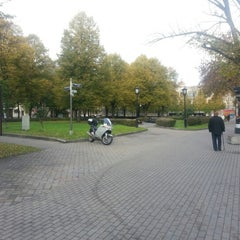 Photo taken at Jēkaba laukums (Jekaba square) by Alexey P. on 10/16/2012