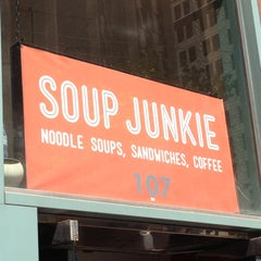 Photo taken at Soup Junkie by nic t. on 4/17/2013