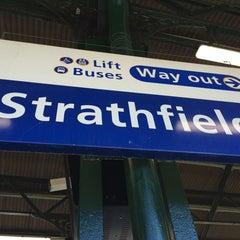 Photo taken at Strathfield Station (Platforms 7 & 8) by love Au on 10/22/2014
