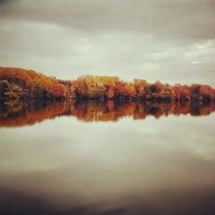 Photo taken at Core Creek State Park by Joshua W. on 10/24/2012