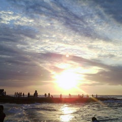 Photo taken at Urbiztondo Beach by Alex B. on 1/31/2015