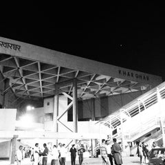 Photo taken at Kharghar Railway Station by Ruchi S. on 4/26/2013