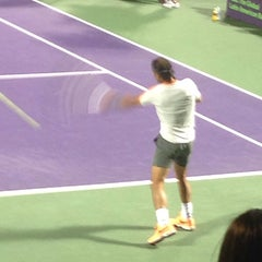 Photo taken at Grandstand Court - Sony Ericsson Open by Cindy M. on 3/23/2014