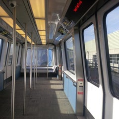 Photo taken at SFO AirTrain by Christoph M. on 4/14/2013