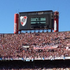 Photo taken at Estadio Monumental (River Plate) by Martin O. on 12/2/2012