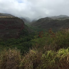 Photo taken at Hanapepe Canyon Lookout by Tomomi N. on 6/21/2015
