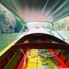 Photo taken at The River Kwai Jungle Rafts by TiKKiE T. on 3/3/2016
