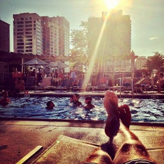 Photo taken at One Superior Place Pool Deck (One W Superior) by Stanley S. on 8/24/2013