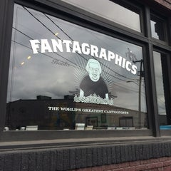 Photo taken at Fantagraphics Bookstore & Gallery by Justin G. on 7/20/2014
