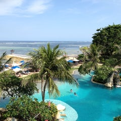 Photo taken at Grand Aston Bali Beach Resort by Andika W. on 11/16/2012