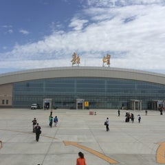 Photo taken at Dunhuang airport (DNH) by Max Y. on 6/9/2015