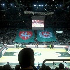 Photo taken at Žalgirio Arena   Zalgiris Arena by Kęstutis K. on 11/23/2012