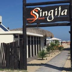 Photo taken at Singita Miracle Beach by Flavio P. on 8/28/2015