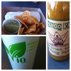 Photo taken at Hightide Burrito Co. by Lauren J. on 3/9/2013