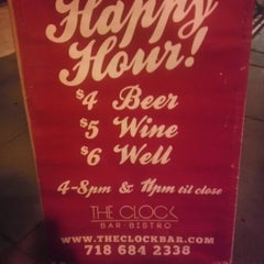 Photo taken at The Clock Bar by Mario L. on 12/29/2012