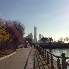 Photo taken at Hudson River Park by Erin G. on 11/22/2012